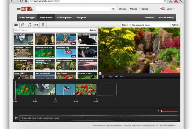 Editor de vídeos para Youtube