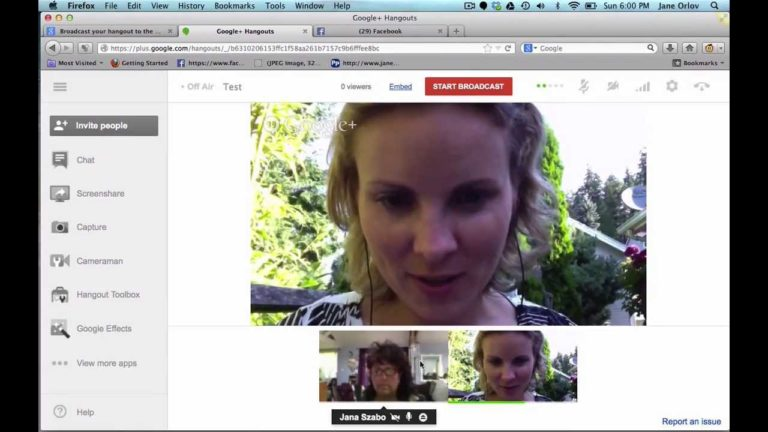 Como hacer streaming con hangout Google Plus