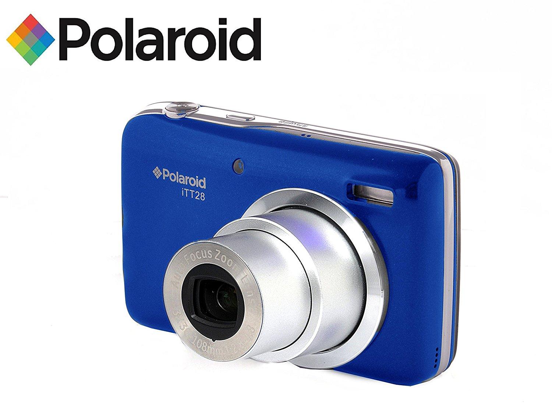 20MP cámara digital ultra compacta con zoom óptico 20x lente Polaroid ITT28 (azul)