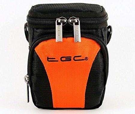 El TGC Hot naranja y negro Compact para el hombro bolsa de transporte para Polaroid z2300 cámara