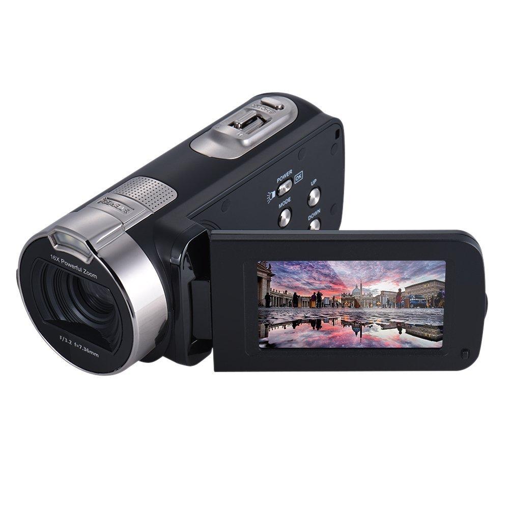 Andoer Andoer HDV-312P 1080P 2.7 pulgadas Full HD Cámara Digital con Pantalla LCD Giratoria 16× Digital Zoom - Negro