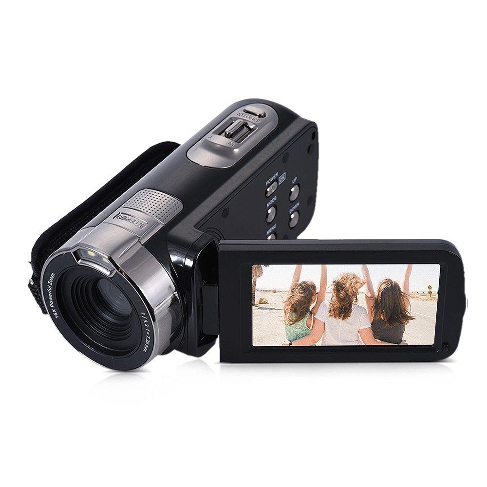 Andoer HDV-302P 3.0 Inch LCD Pantalla Cámara Videocámara Full HD 1080P 15 FPS 24MP 16X de Zoom Digital Anti-vibración de Vídeo Digital DV Control Remoto