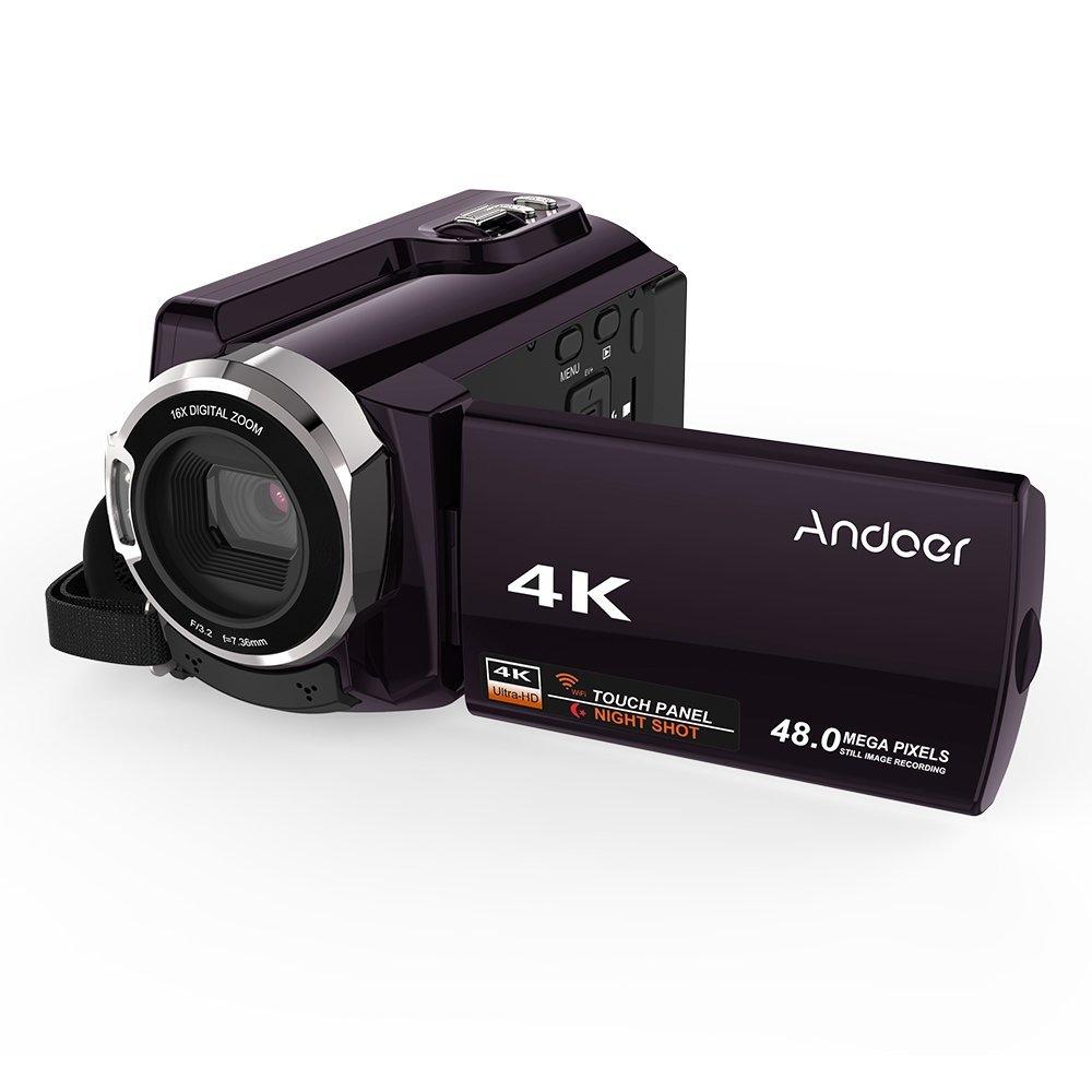 Andoer–HDV de 534K 4K 48Mp WiFi Cámara Digital 1080P Full Hd Novatek 96660Chip 3pulgadas capacitiva pantalla táctil IR infrarrojos de visión nocturna Apoyo 16x Zoom cara Reconocer Videocámara