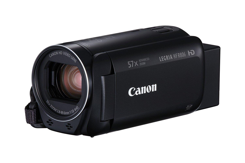 """Canon LEGRIA HF R806 - Videocámara (pantalla táctil de 3"""", Full HD, Zoom Avanzado 57x, IS Óptico Inteligente, compatible con tarjetas FlashAir) negro"""
