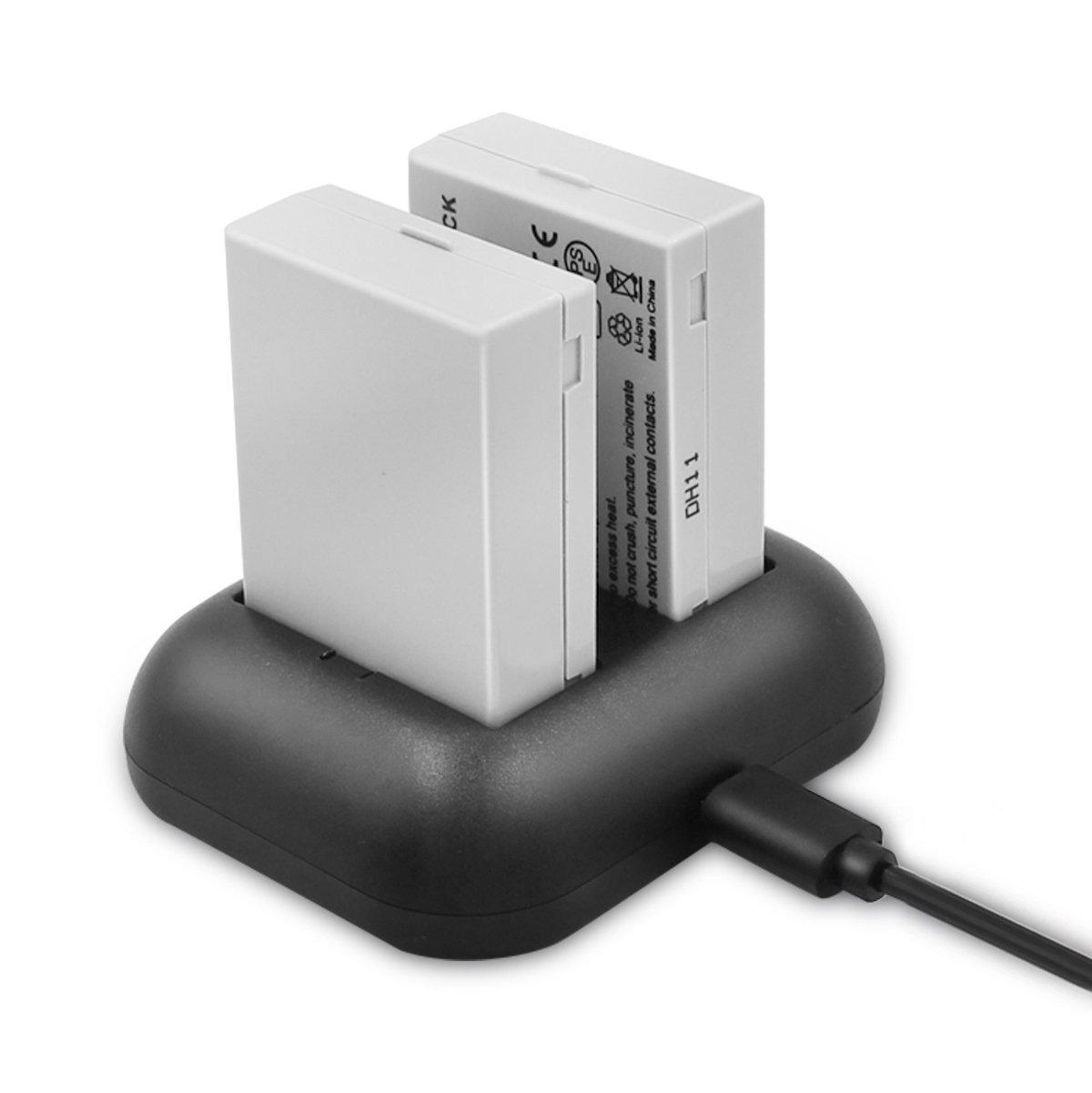 ENEGON Batería de repuesto (paquete de 2) y cargador rápido rápido para Canon LP-E8 y Canon EOS Rebel T2i, T3i, T4i, T5i, EOS 550D, 600D, 650D, 700D, Kiss X4, X5, X6 y LC-E8E Cámara digital