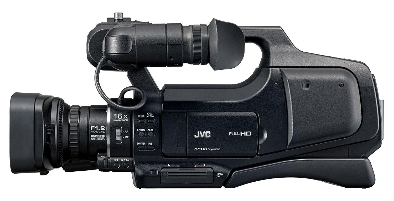 """JVC GY-HM70 - Videocámara HD (pantalla táctil LCD de 3"""", sensor CMOS de 12 Mp, estabilizador de imagen), negro"""