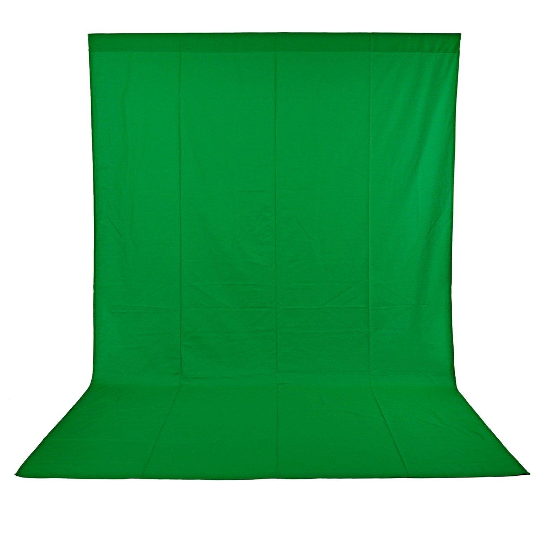 Neewer Pro Fondo fotográfico 1,8 x 2.8M, Plegable Telón de Fondo de 100% Pura Muselina para Estudio fotográfico para Fotografía, Vídeo y Televisión, Verde, Incluye únicamente el Fondo