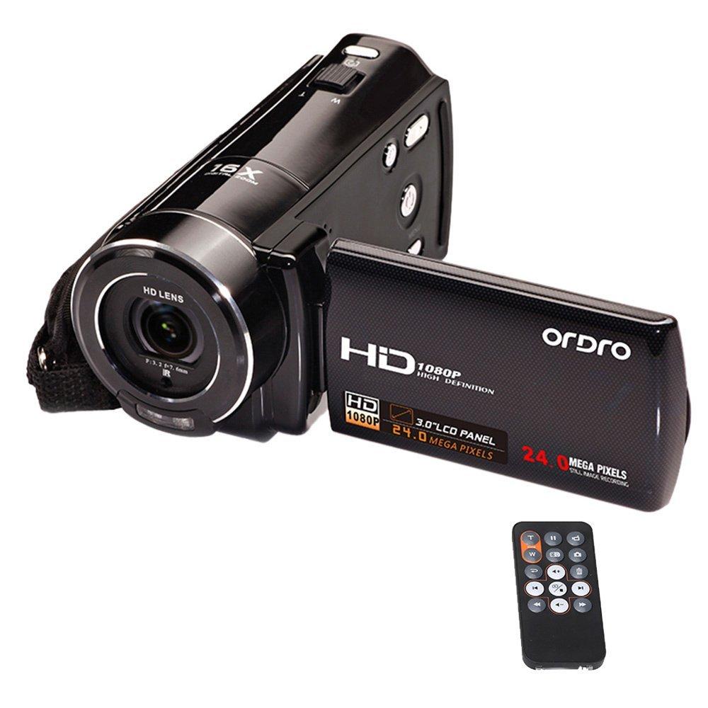 """ORDRO HDV-V7 Full HD 1080 P 24 megapíxeles cámara digital de vídeo a un máximo de 16 x digital-Zoom con 3.0 """" giratoria LCD-pantalla soporte cara reconocimiento"""