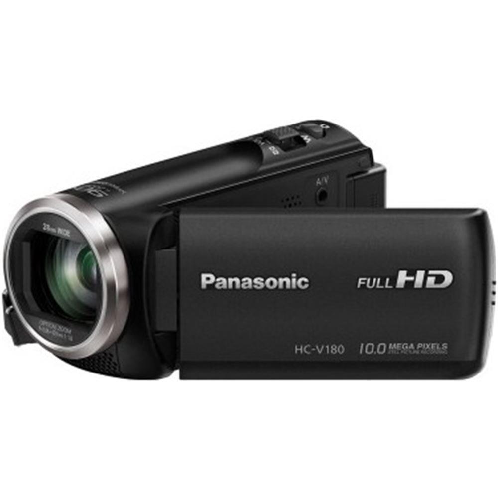 "Panasonic HC-V180EC-K - Videocámara de 2.7"" (zoom óptico de 50x , gran angular 28 mm, sensor 18.1 MP, control creativo) negro"