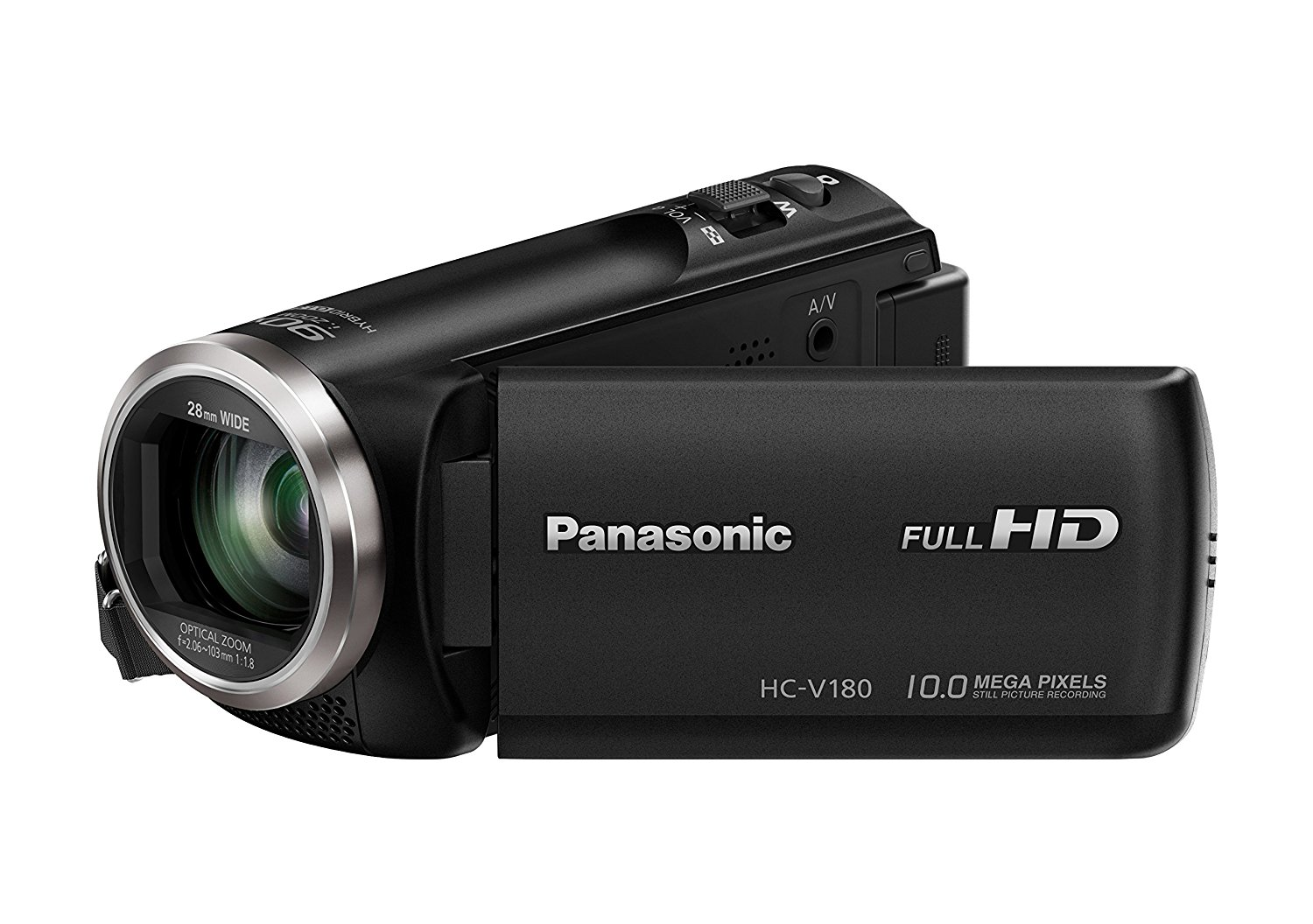 "Panasonic HC-V180EG-K - Videocámara (2,51 MP, MOS BSI, 25,4 / 5,8 mm (1 / 5.8""), 1,67 MP, 2,2 MP, 50x)"