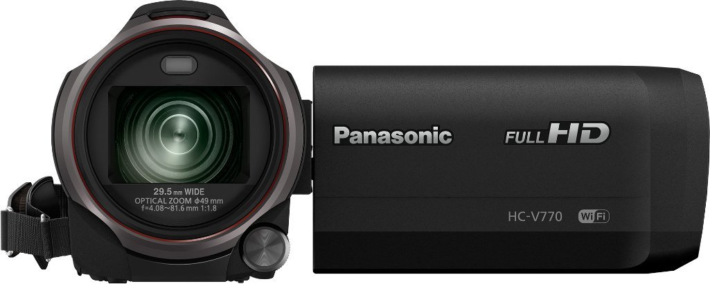 "Panasonic HC-V770 - Videocámara (12,76 MP, MOS BSI, 25,4 / 2,3 mm (1 / 2.3""), 6,03 MP, 6,03 MP, 20x)"