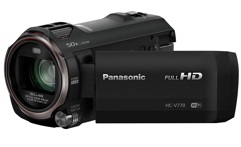 Panasonic HC-V770EB-K - Videocámara (MOS BSI, 12.76 Mp, 1/0.0906 mm (1/2.3"), 20x, 1500x, 4.08 - 81.6 mm), color negro (importado)