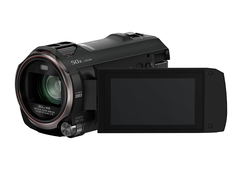 "Panasonic HC-V777EG-K - Videocámara Full HD 1080p (pantalla de 3"", zoom óptico 20x, estabilizador híbrido), negro (importado)"