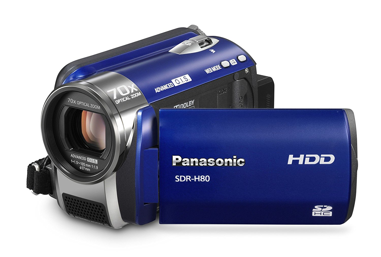 "Panasonic SDR-H 80 EG9-A - Videocámara (8 MP, CCD, 1/0.315 mm (1/8 ""), 70 x, 37.8 - 2643 mm, 37 - 2592 mm) Azul"