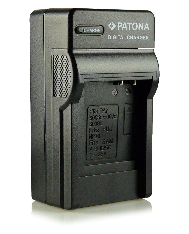 Patona - Cargador para cámaras de vídeo Panasonic CGA-S008E, DMW-BCE10E, Leica BP-DC6, Ricoh DB-70, Panasonic Lumix DMC-FX30, DMC-FX33, DMC-FX35, DMC-FX37, DMC-FX55, DMC-FX500, DMC-FS3, DMC-FS5, DMC-FS20, SD, SDR-S7, SDR-S9, SDR-S10, SDR-SW20, Ricoh Caplio R6, R7, R8, R10, Leica C-LUX 2, C-LUX 3 y otras