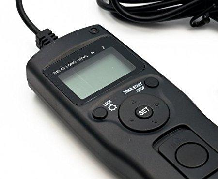 QUMOX Control remoto del obturador de temporizador para Cámara Canon 1D 1Ds 5D Mark 2 Mark 3 II III 6D
