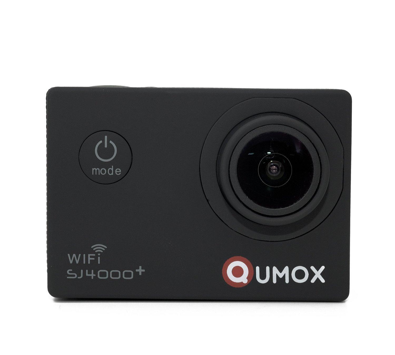 QUMOX multifunción SJ4000+ Plus Wifi 2K HD 1080P 720P Impermeable Action Sports Helmetcamera Digital Video Recorder DVR videocámara, 12 mega píxeles, 170 ° gran angular de alta definición, con el caso impermeable Mounts Múltiples, Color Negra