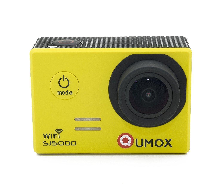 QUMOX Original SJ5000 WIFI - Cámara de Deporte para casco Impermeable, Video de Alta definición 1080p Full-HD de 2.0 pulgadas 2'' 170 ° Lente Submarino HD impermeabilizan la videocámara DVR, Color Amarilla