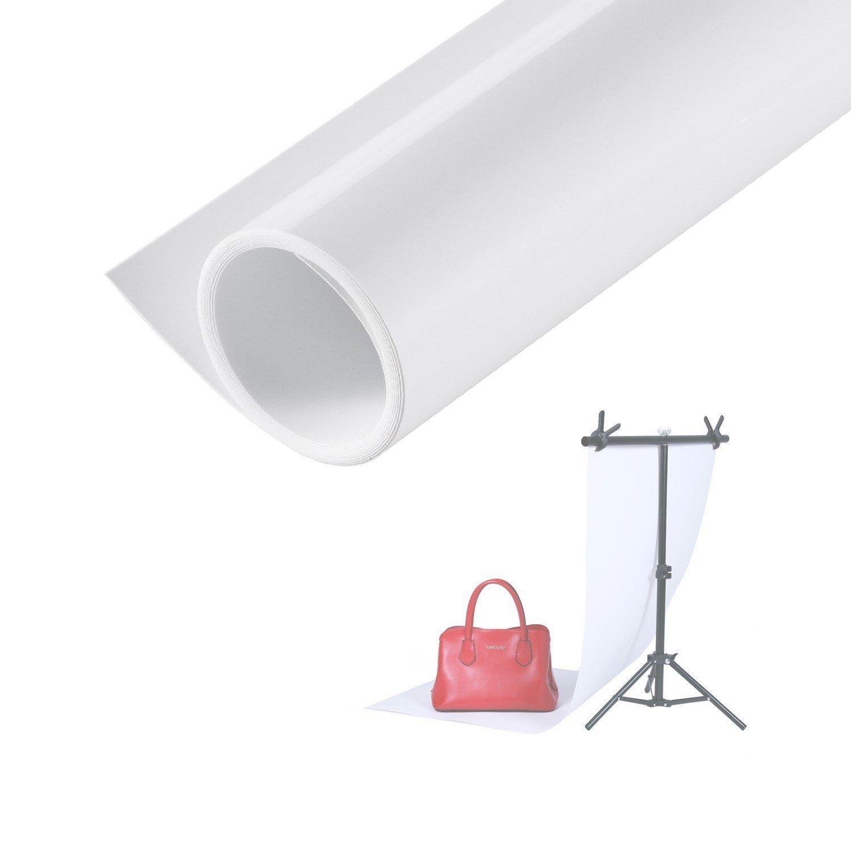 Selens Telón de Fondo Backdrop Matte PVC Background Estudio Fotográfico Fotografía 60x130cm Blanco