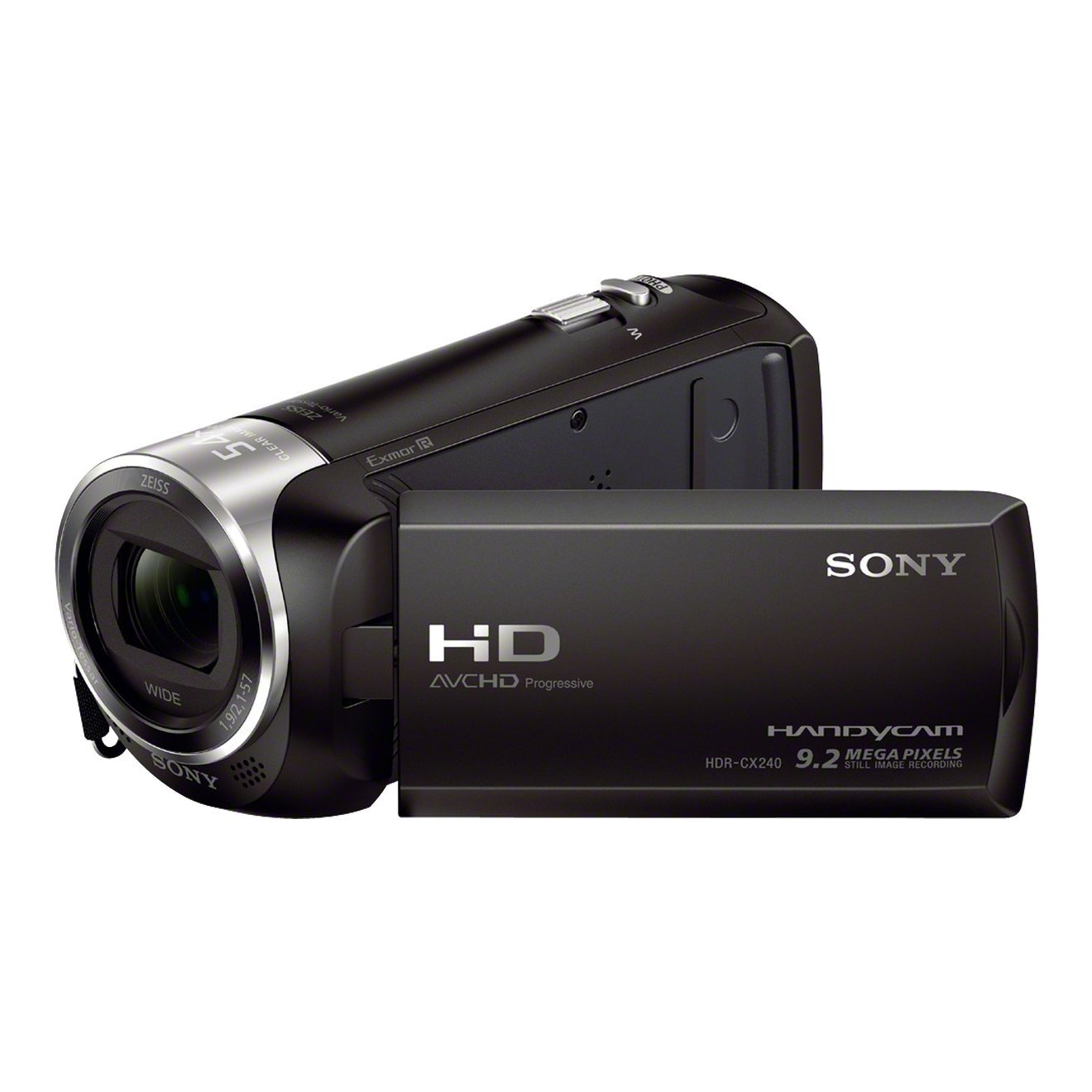 "Sony Handycam® HDR-CX240E con sensor CMOS Exmor R® - Videocámara (CMOS, 25,4 / 5,8 mm (1 / 5.8""), 2,1 - 57 mm, 29,8 - 804 mm, Tarjeta de memoria, MicroSD (TransFlash), MS Micro (M2), SDHC, SDXC) Negro"