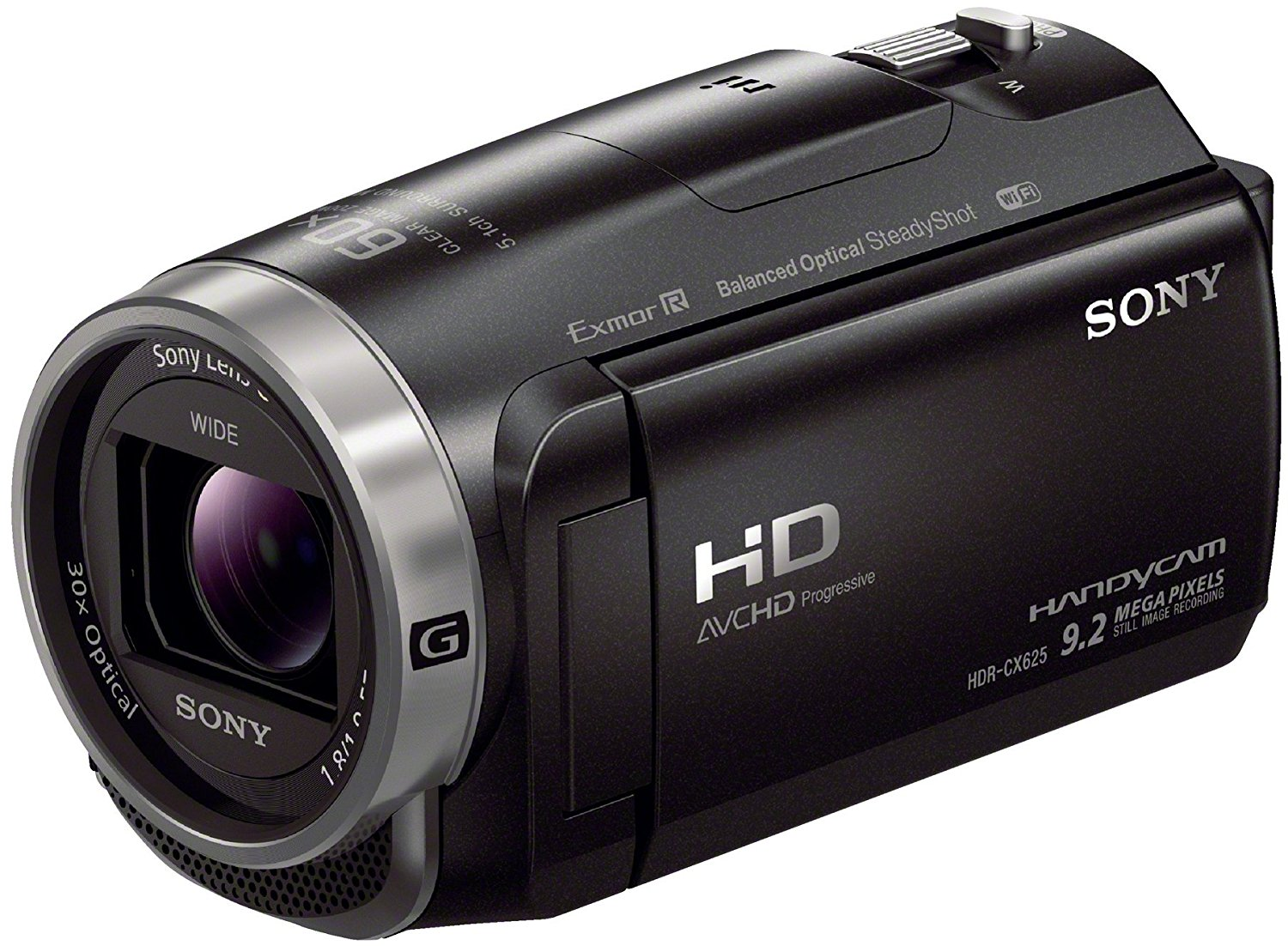 Sony HDRCX625B.CEN - Videocámara (sensor Exmor R CMOS, zoom óptico de 30 aumentos, XAVC S, balanced optical SteadyShot con 5 ejes y cámara lenta) negro