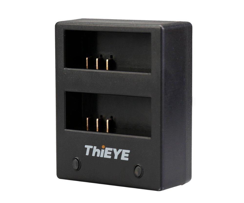 ThiEYE cámara de acción i60e Cargador de batería USB doble base de carga para 4K i60e cámara deportiva, adecuado para SJCAM Cámaras