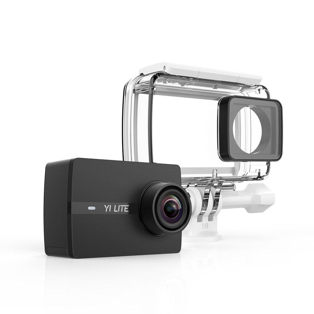yi Lite cámara de acción 4K/20fps, 1080p/60fps con lente ultra gran angular WiFi & Bluetooth con cubierta impermeable–negro