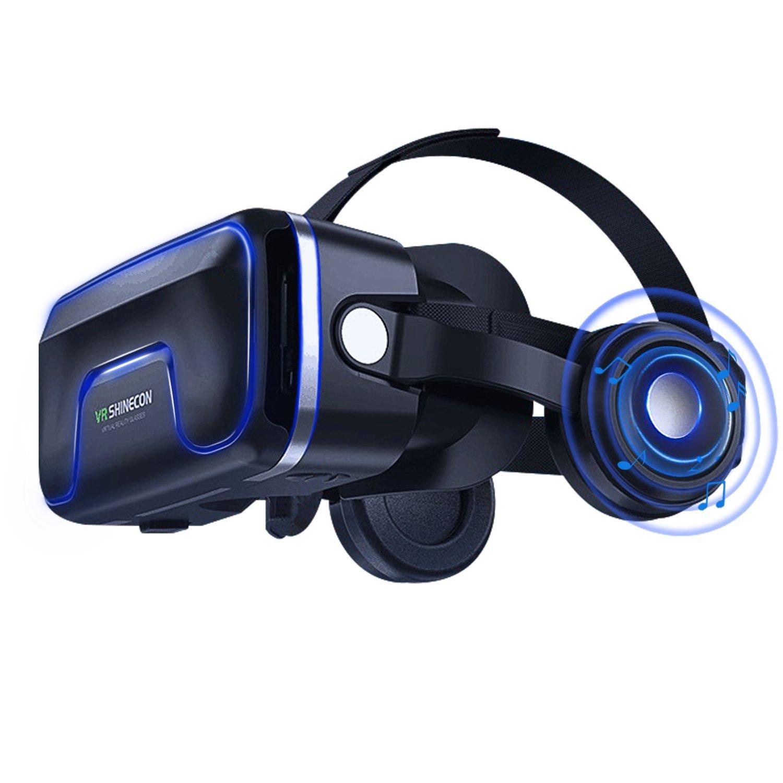3D VR Gafas de Realidad Virtual, Gafas vr para Juegos Visión Panorámico 360 Grado Película 3D Juego Immersivo para iPhone X/7/ 7plus /6s 6/plus, Galaxy s8/ s7 s6/edge note otros celulares con pantalla de 4,7 a 6,0 pulgadas (GL05)