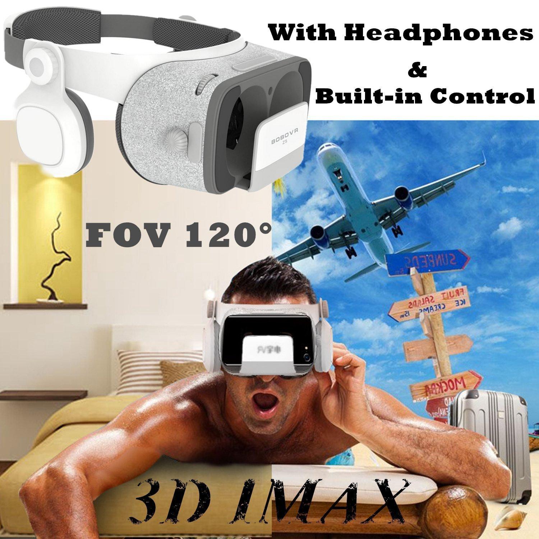"""Auriculares de realidad virtual 3D, auriculares Bevifi VR con controlador y auriculares [720° HIFI], FOV 120 VR Gafas Visor para IOS iPhone X 8 6S Plus, Android Samsung S8 S7 S6 Edge y más 4,7-6,2"""" teléfono móvil"""