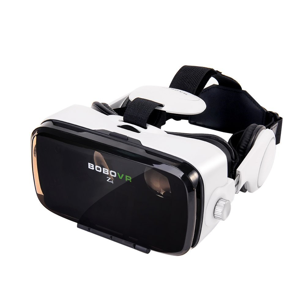 BOBOVR Z4 Xiaozhai 3D VR 3D Gafas de Visión 120 ° FOV 3D VR Virtual Reality Auricular Movie Video Game Privado Theater Con Auriculares para iPhone 6/6 Plus iPhone 7/6S Plus Samsung S8 / S8 Plus Samsung Galaxy 4.0~6.0 pulgadas IOS Android Smartphone