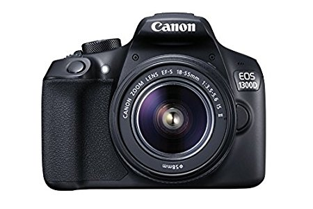 "Canon EOS 1300D - Cámara réflex de 18 Mp (pantalla de 3"", Full HD, 18-55 mm, f/1.5-5.6, NFC, WiFi), color negro - Kit con objetivo EF-S 18-55 mm f/3.5-5.6 IS II"