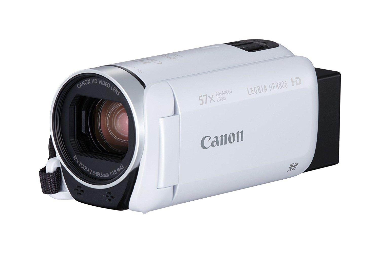 """Canon LEGRIA HF R806 - Videocámara (pantalla táctil de 3"""", Full HD, Zoom Avanzado 57x, IS Óptico Inteligente, compatible con tarjetas FlashAir) blanco"""