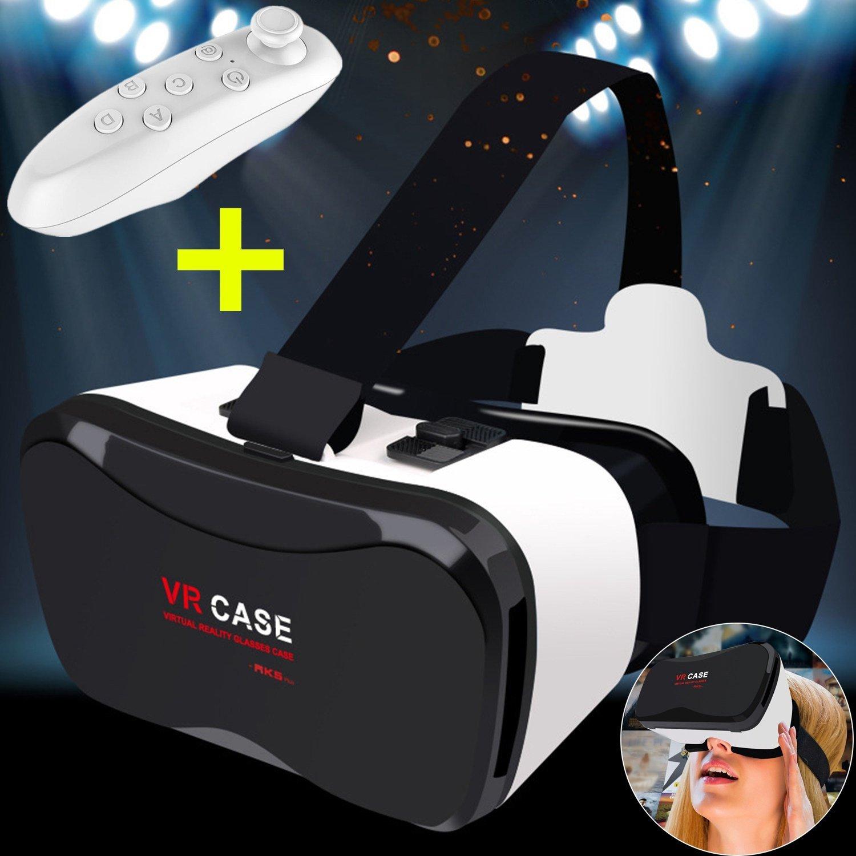 """Gafas 3D VR, Gafas de realidad virtual 3D Bevifi [versión mejorada] + Mando a distancia Smartphone 3d Película/Visera de juego para iPhone 8 7 6S Plus, Samsung S8 S7 Edge S6 & More 4,0 """"-6,"""" teléfonos"""