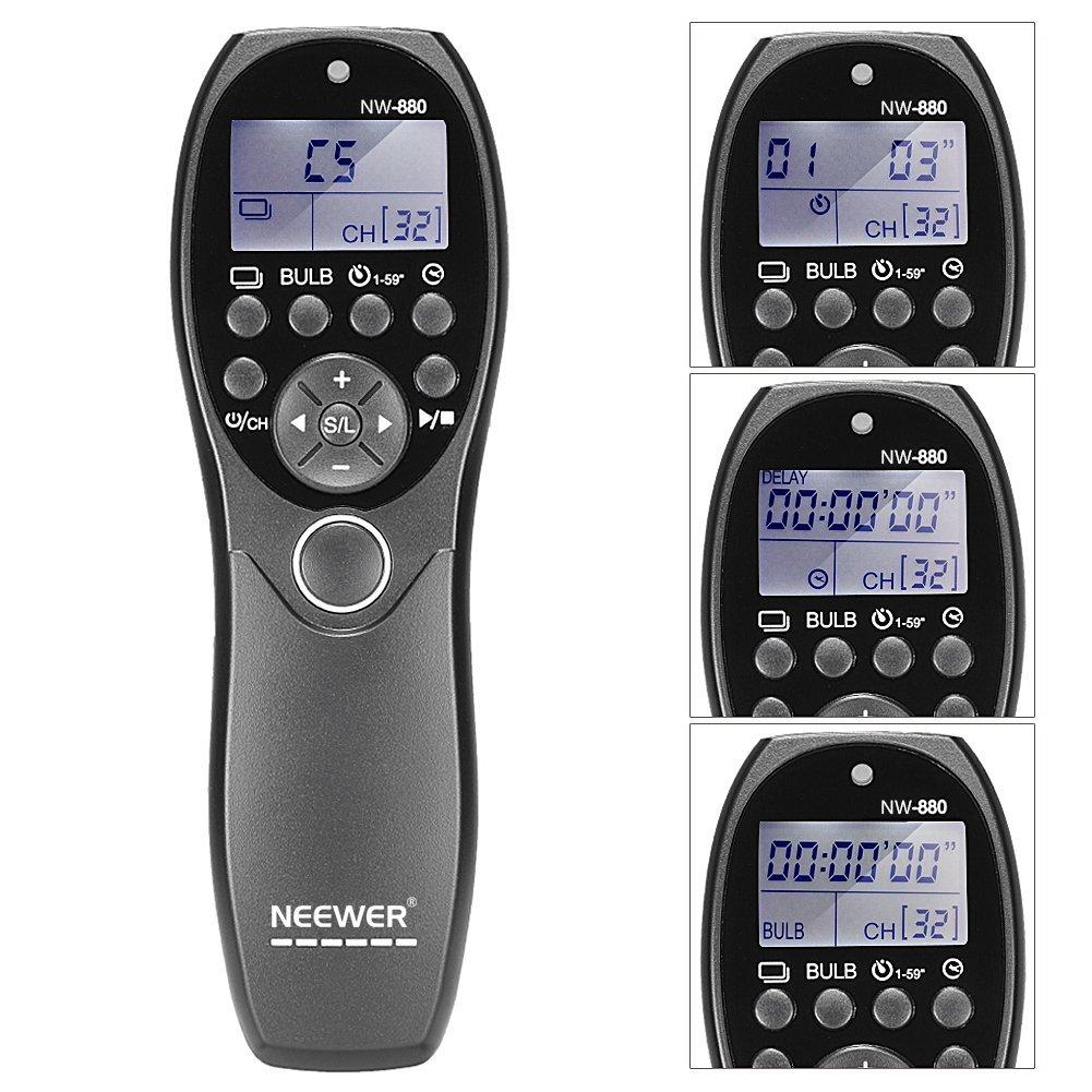 Neewer pantalla LCD temporizador y mando a distancia de disparo del obturador yp-880/N3 para Canon EOS 7D, 5D Series, 1D 6D 50D 40D 30D 20D 10D cámaras