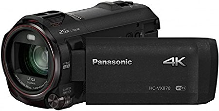 Panasonic HC-VX870EG-K - Videocámara Full HD 1080p (pantalla de 3", estabilizador, WiFi), negro