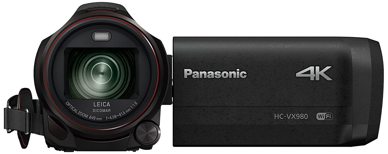 Panasonic HC-VX980EG-K - Videocámara (MOS BSI, 25,4/2,3 mm (1/2.3), 4,08-81,6 mm, tarjeta de memoria, 4K Ultra HD)