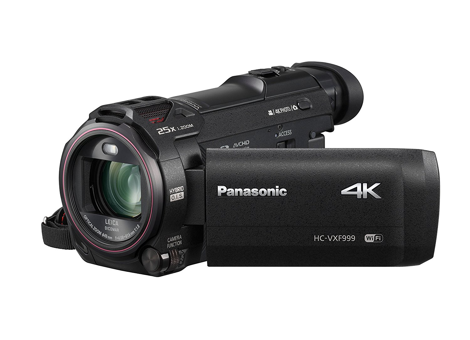 "Panasonic HC-VXF999EG-K - Videocámara (18,9 MP, MOS BSI, 25,4 / 2,3 mm (1 / 2.3""), 25,9 MP, 20x, 250x)"