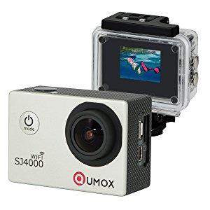 QUMOX WIFI SJ4000 - Cámara de Deporte para casco Impermeable, Video de Alta definición 1080p 720p, Plateado