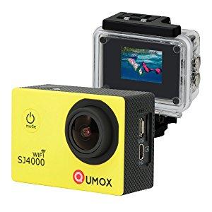 QUMOX WIFI SJ4000 - Cámara de Deporte para casco Impermeable, Video de Alta definición 1080p 720p, Amarillo