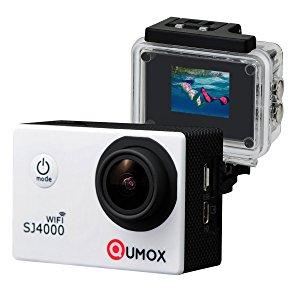 QUMOX WIFI SJ4000 - Cámara de Deporte para casco Impermeable, Video de Alta definición 1080p 720p, Blanco