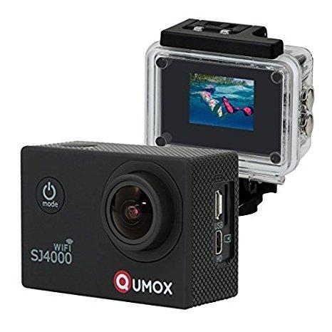 QUMOX WIFI SJ4000 - Cámara Impermeable Deportiva para casco , Video de Alta definición 1080p 720p, Color Negra