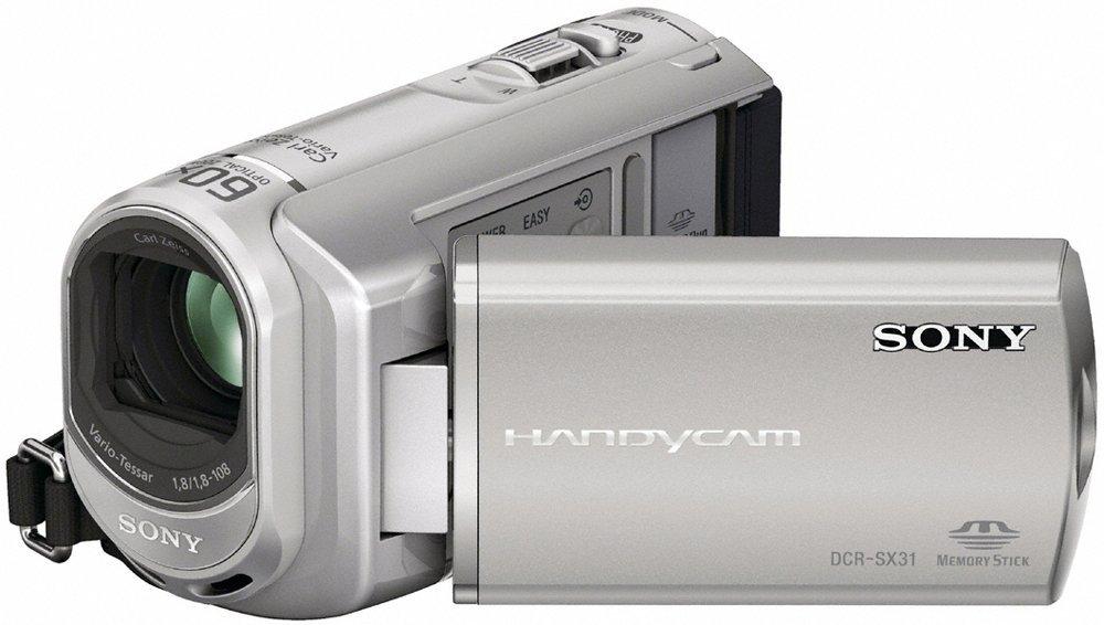 "Sony DCR-SX31E - Videocámara (0.8 MP, 2000 x, 60 x, 1.8 - 108 mm, 68.6 mm (2.7 ""), LCD) Negro, Plata"