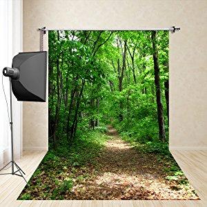 Verde bosque foto fondos de fotografía fotografía estudio Props Niños pañuelo de seda sintética FD-650(150x300cm)