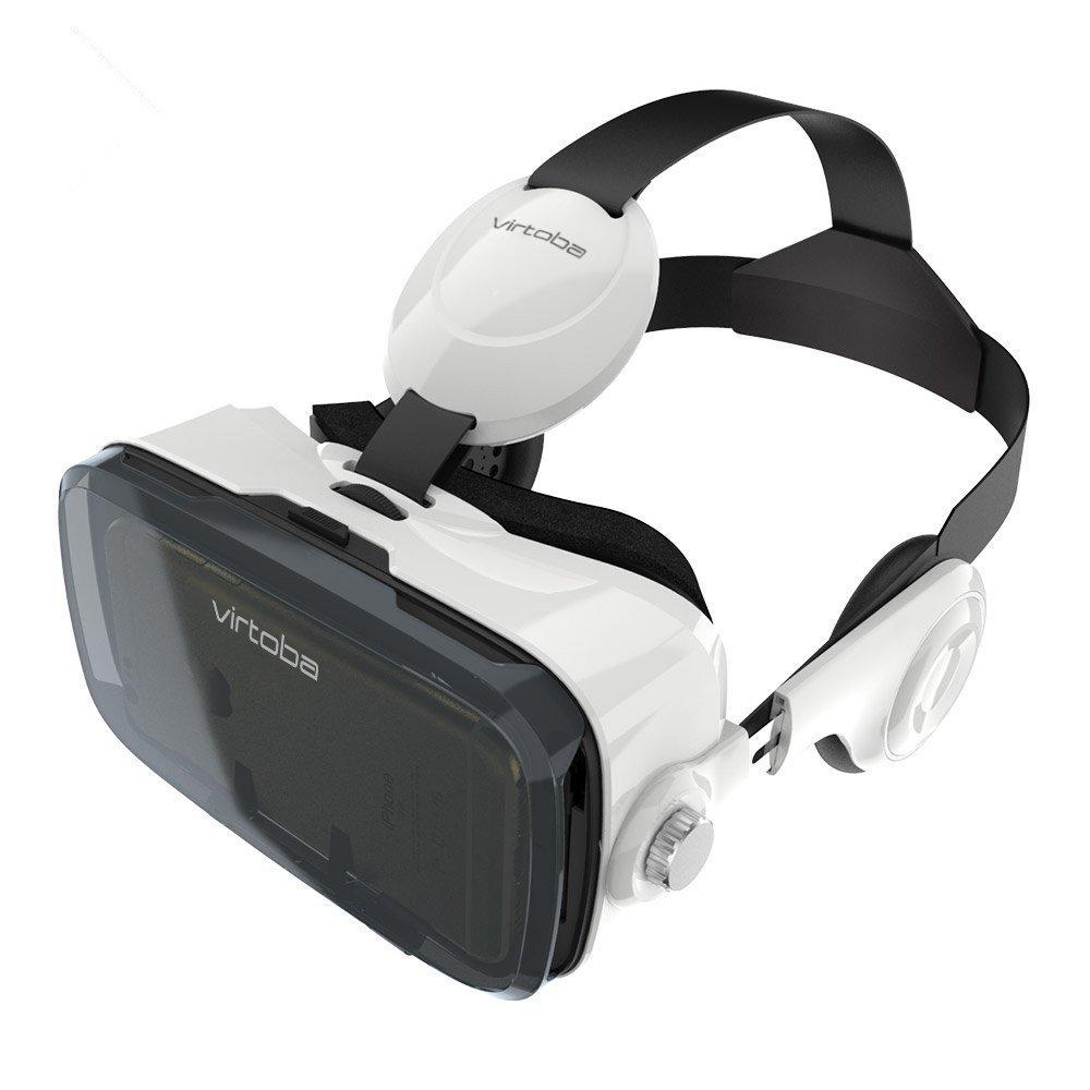 Virtoba X5-VR-Gafas 3D-Casco de realidad virtual para smartphone con correa ajustable y gafas 3D para 4, 0-6,0 pulgadas Android/iOS/Windows Mobile 6/6s, iPhone, Samsung, etc. () negro