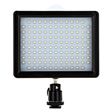 126 LED Luz de vídeo Lámpara panel de 10W 960LM Dimmable para Canon Nikon Pentax DSLR cámara videocámara