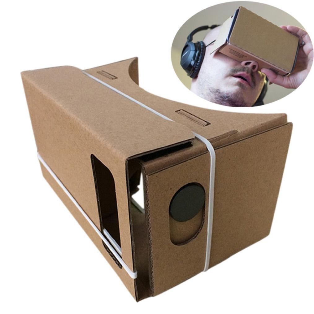 Amlaiworld 6 pulgadas DIY Google cartón 3D VR Realidad Virtual gafas de cartón