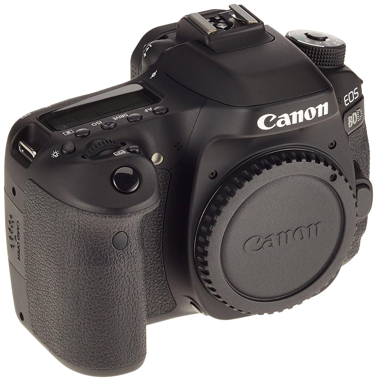 Canon EOS 80D 24.2MP CMOS 6000 x 4000Pixeles Negro - Cámara digital (Auto, Nublado, Modos personalizados, Luz de día, Flash, Fluorescente, Sombra, Tungsteno, Película, Imagen única, Batería, Cuerpo de la cámara SLR, TTL, Automático/Manual) [Importado]