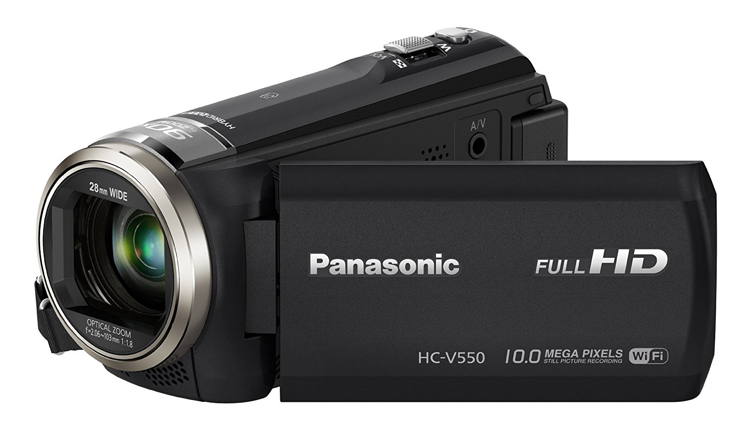 Panasonic HC-V550CTEBK Full HD Camcorder - Black (10MP, 90x Intelligent Zoom, Wi-Fi, NFC) 3.0 inch LCD (New for 2014)