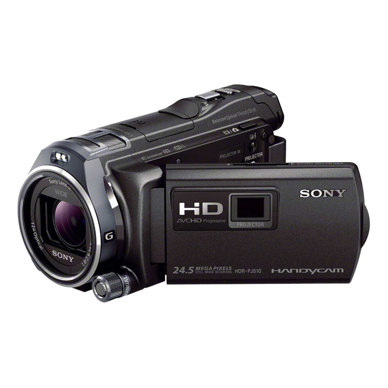 "Sony Handycam HDR-PJ810E - Videocámara de 6.1 Mp (pantalla de 3"", zoom óptico 12x, estabilizador óptico, vídeo Full HD, WiFi y NFC), Negro"