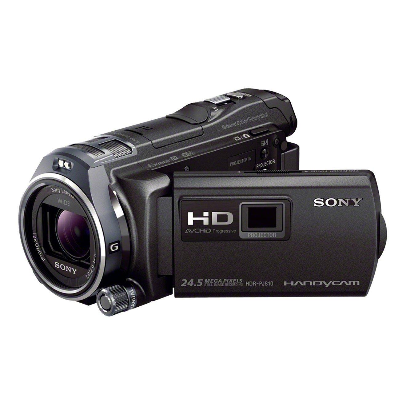 """Sony Handycam HDR-PJ810E - Videocámara de 6.1 Mp (pantalla de 3"""", zoom óptico 12x, estabilizador óptico, vídeo Full HD, WiFi y NFC), Negro"""